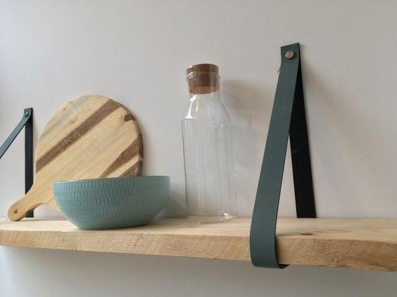 Leren plankdrager DIY
